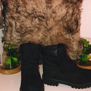 Authentic Black Timberlands